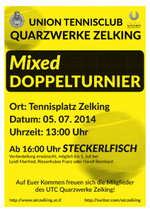Plakat Mixed Doppel 2014