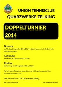 Plakat Doppel 2014