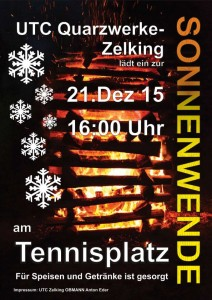 Plakat Winter Sonnenwende 2015